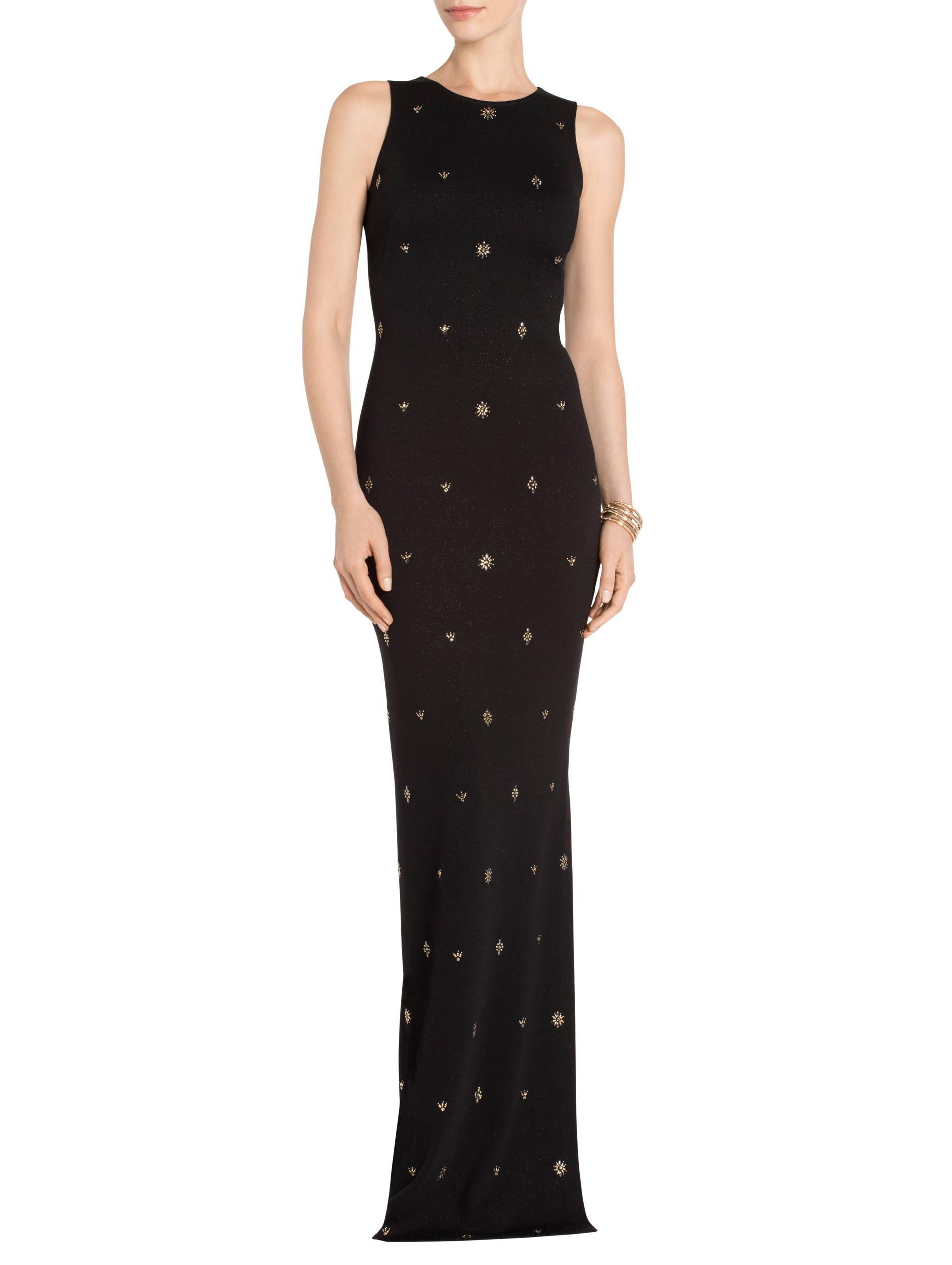 Women\'s Shimmer Milano Knit Jewel Neck Halter Gown   St. John Knits