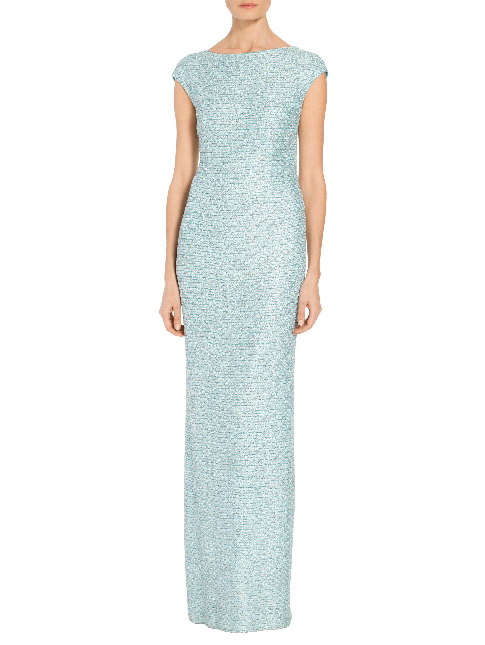 Women\'s Glitter Sequin Knit Cap Sleeve Gown | St. John Knits