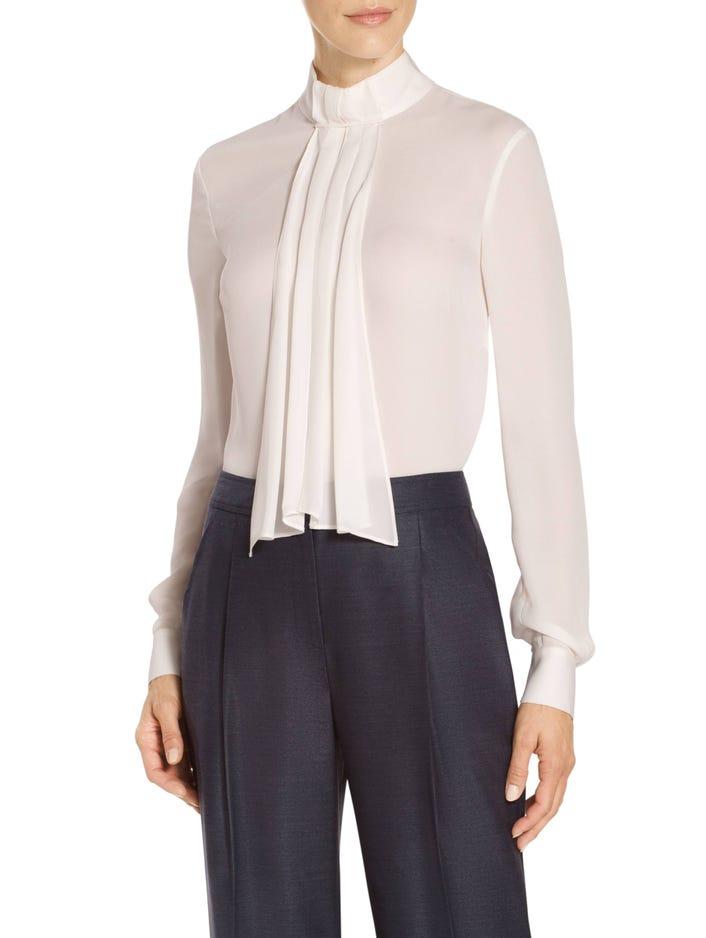 6b90a28de0a281 Women s Satin Silk Georgette Neck Tie Blouse