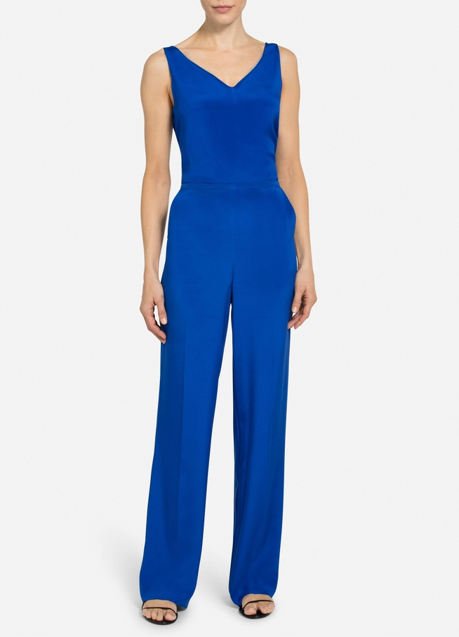 St. John STRETCH SILK CREPE DE CHINE PANT