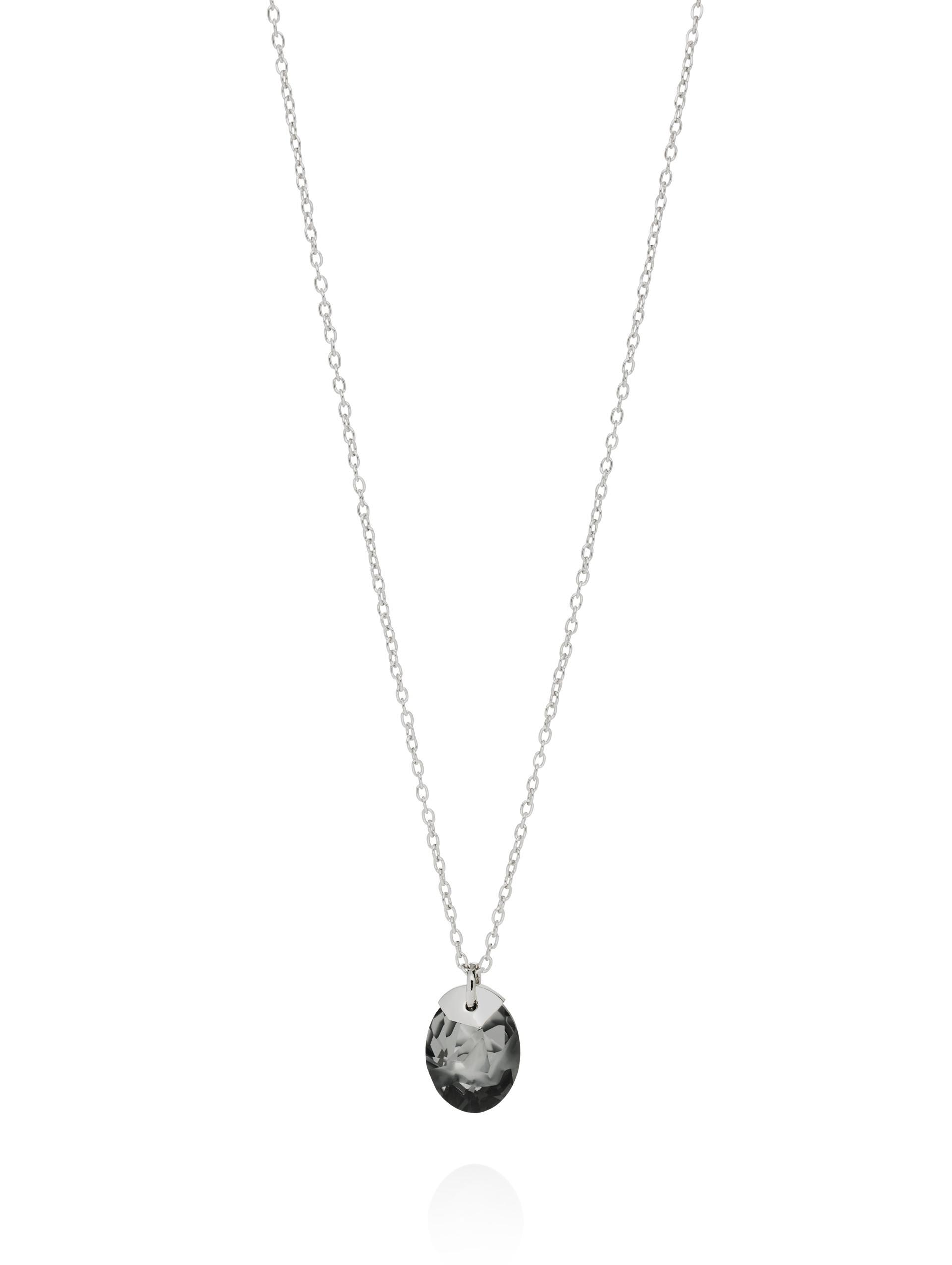 St. John Swarovski Crystal Pendant Necklace Flash rose gold shadow Denil7H