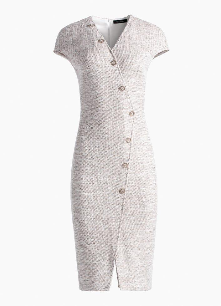 52ff32176c90 Women s Belinda Knit V-Neck Cap Sleeve Dress