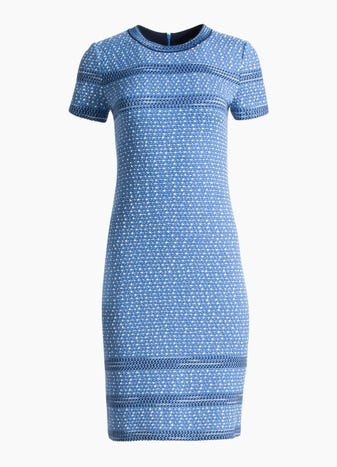 c5ce4a205392 Engineered Coastal Texture Tweed Knit Dress