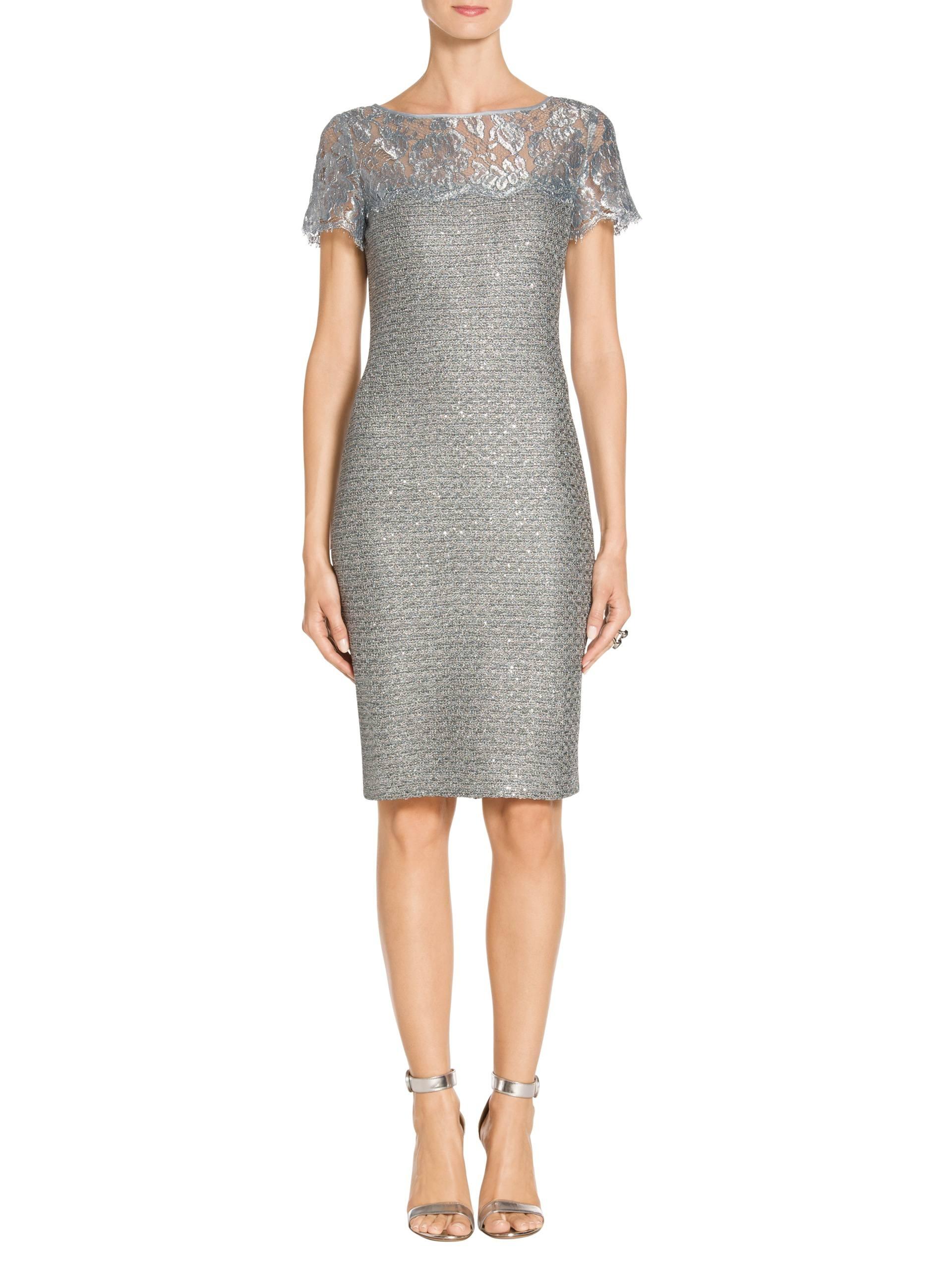 Shop designer cocktail dresses st john knits metallic sequin knit dress ombrellifo Images