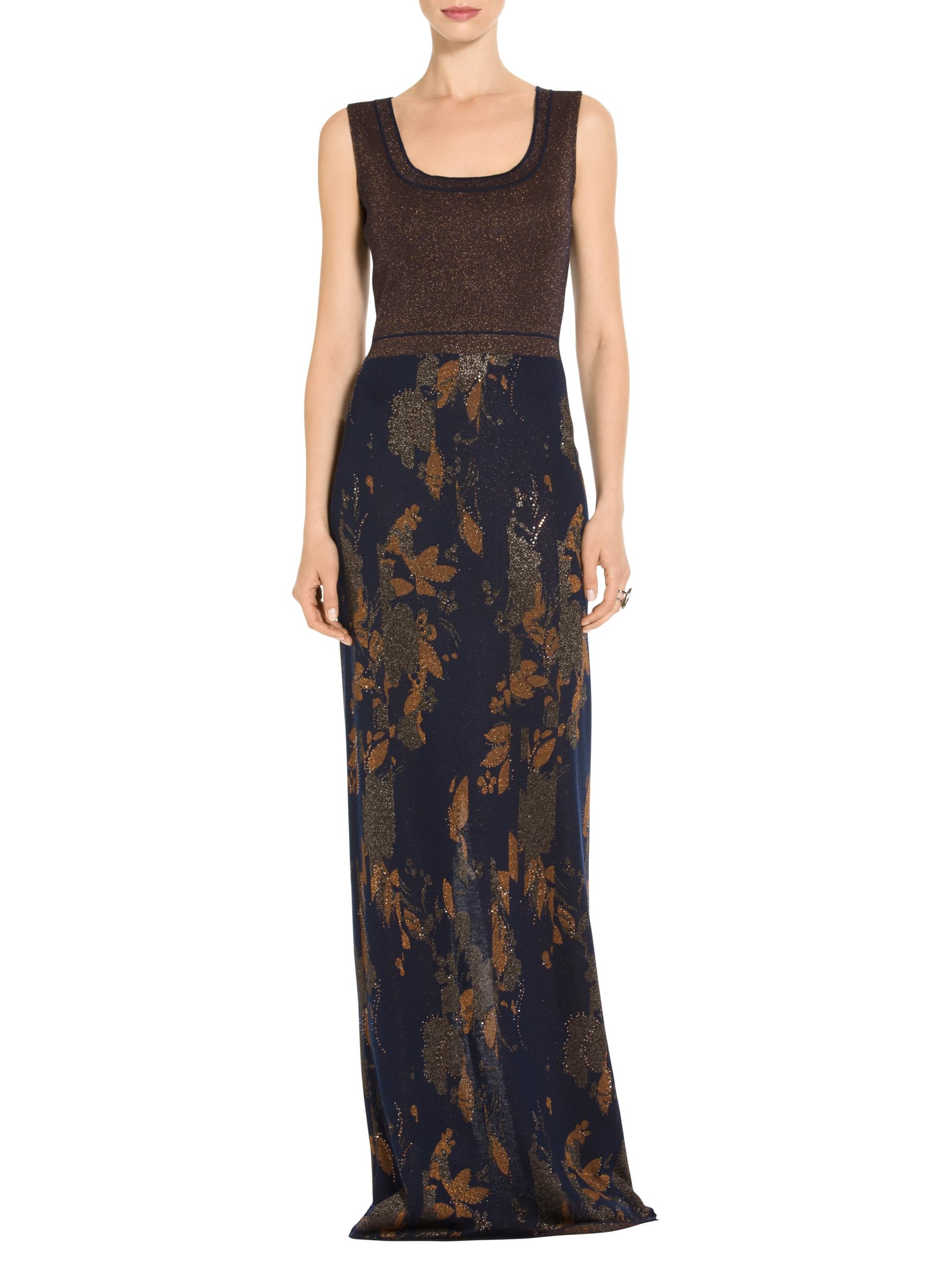 Women\'s Glitter & Shine Jacquard Knit Gown | St. John Knits