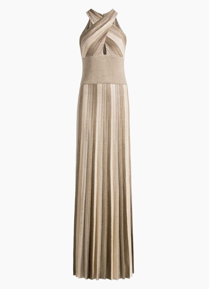a831bf0a Women's Metallic Plisse Jacquard Knit Gown | St. John Knits