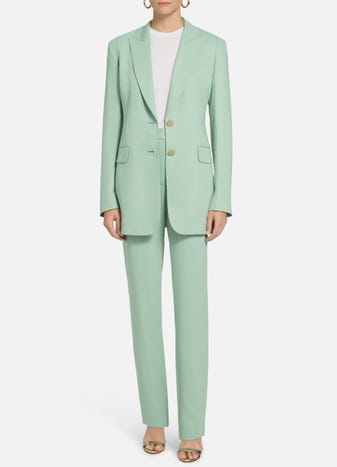 Stretch Viscose Cady Jacket by St. John, available on stjohnknits.com for $1585 Gigi Hadid Outerwear SIMILAR PRODUCT