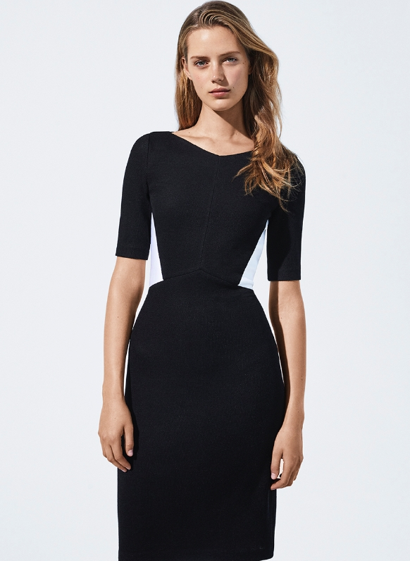 Pique Milano Knit Dress
