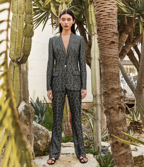 Leopard Jacquard Suit from Saint John Pre-Fall 2019