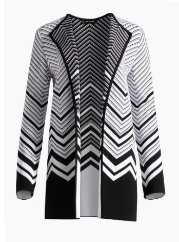 Chevron Jacquard Knit Jacket