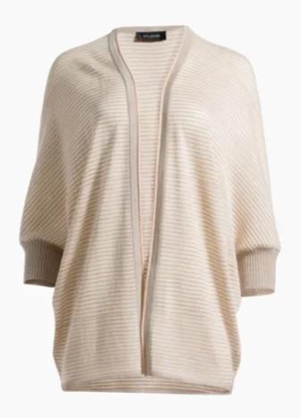 Degrade Matte Shine Drop Needle Knit Cocoon Cardigan