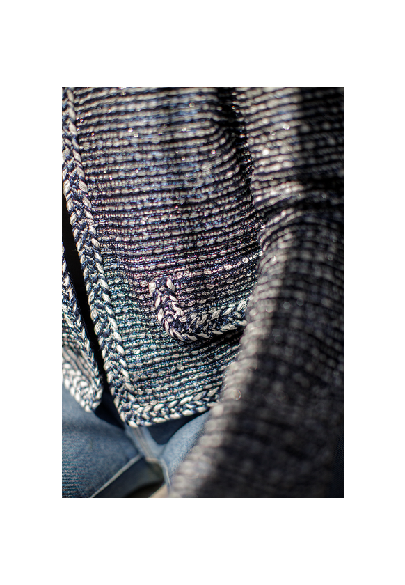 Close-up shot of Camille Knit Jacket