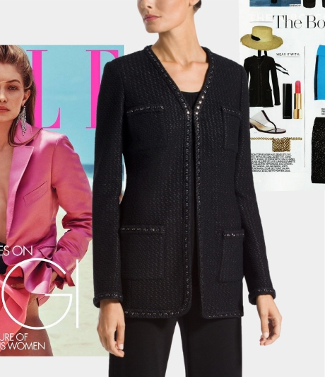 Adina Knit Jacket in Elle March 2019