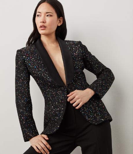 Confetti Sequin Knit Blazer