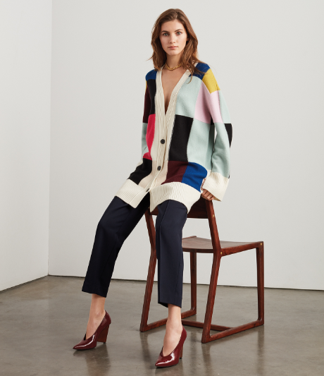 patchwork cardigan from fall 2019 collection