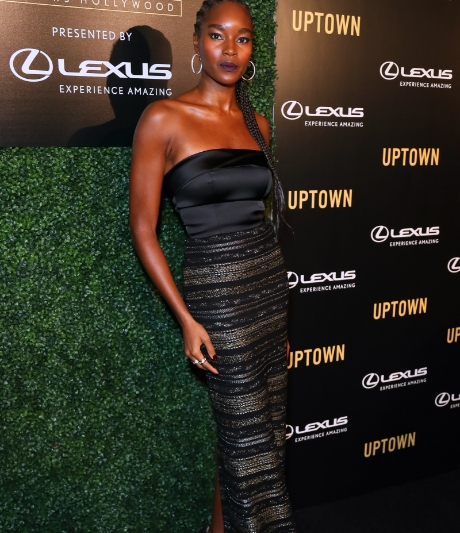 Damaris Lewis at the Uptown Honors HollyWood Pre-Oscar Gala