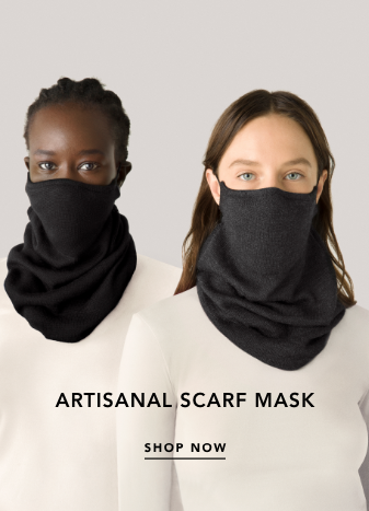 artisanal scarf mask. shop now.