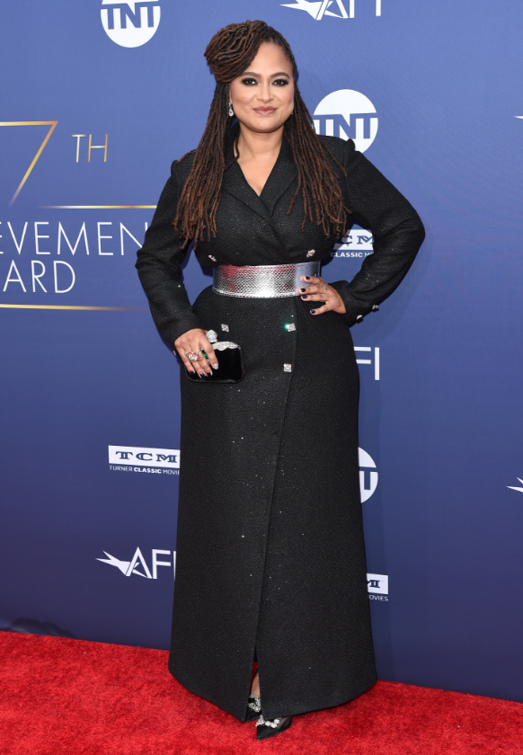Ava DuVernay wearing a Pre-Fall 2019 Saint John Evening Coat