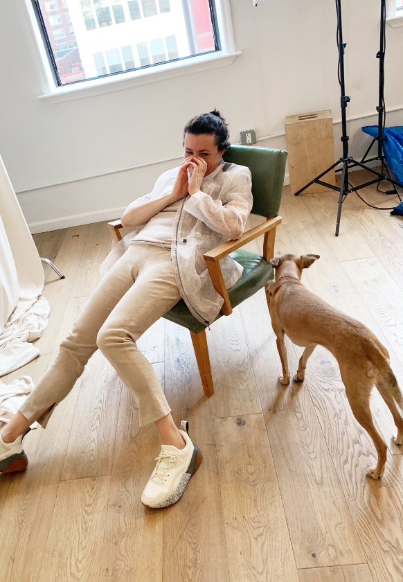 Garance Doré behind the scenes