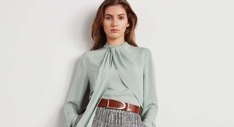 drape silk blouse
