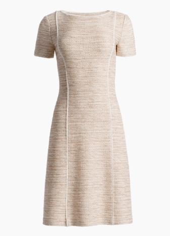 Dune Inlay Knit Short Sleeve Dress