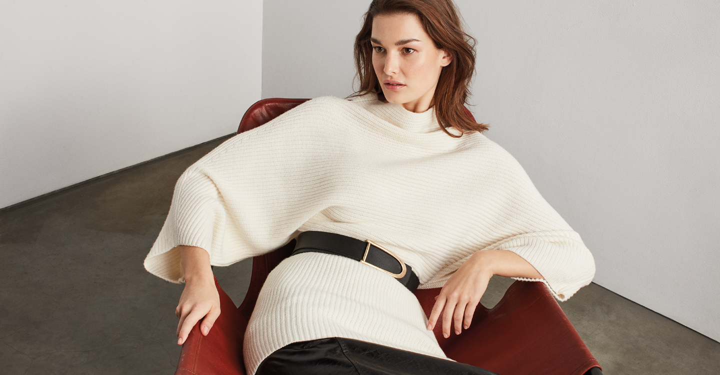 At St. John Knits, we believe every sophisticated woman deserves to have luxe cashmere in her wardrobe. We incorporated our Luxe Cashmere capsule collection into our Fall 2019 line because the fully-fashioned knitwear is a go-to staple for casual and dres