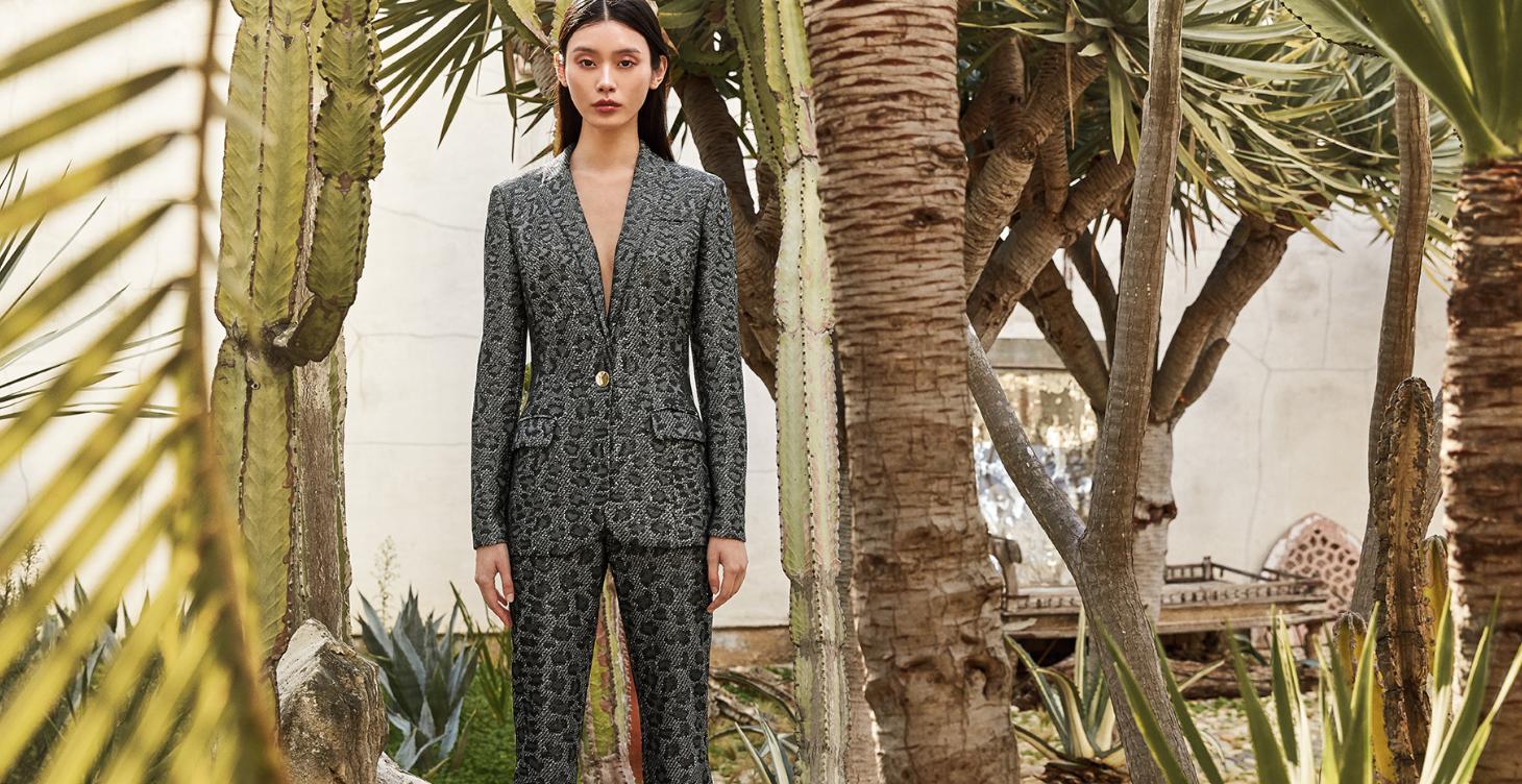 Leopard Jacquard Suit