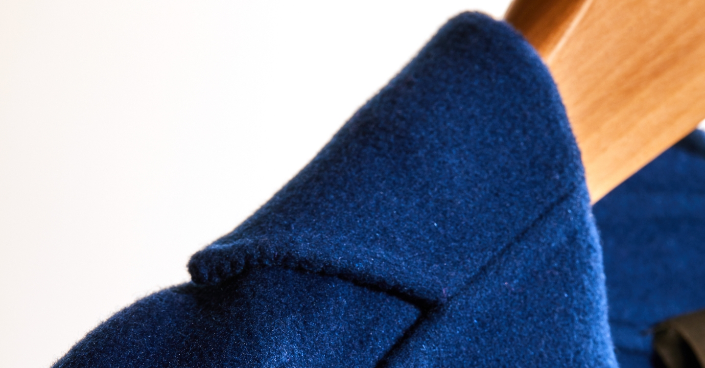Prussian Blue Wool Coat Saint John Fall 2019