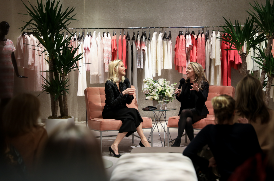 Ali Wentworth hosting Jessica Yellin's book tour in New York City
