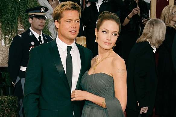 Angelina Jolie wearing Saint John on the red carpet