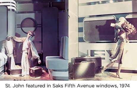 Saint John featured in Saks windows in 1974