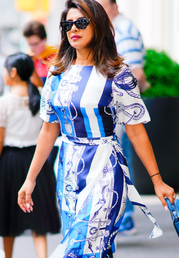 Priyanka Chopra wears Saint John Resort 2020 in New York City