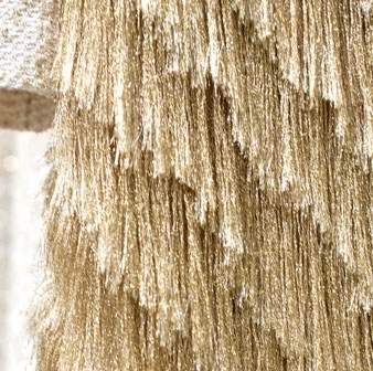 Gold fringe fabric