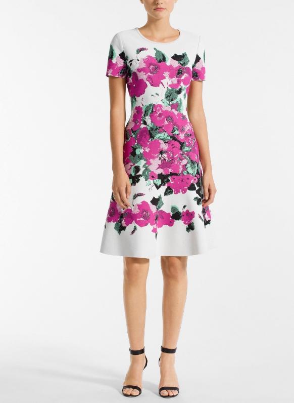 Blooming Jacquard Floral Dress