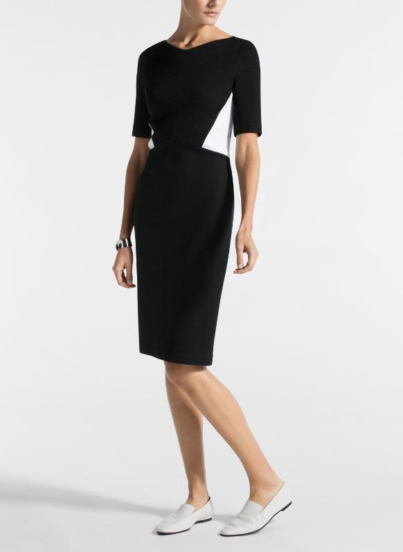 Black dress with white panels