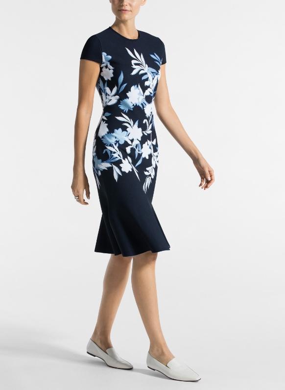 Shadow Floral Jacquard dress