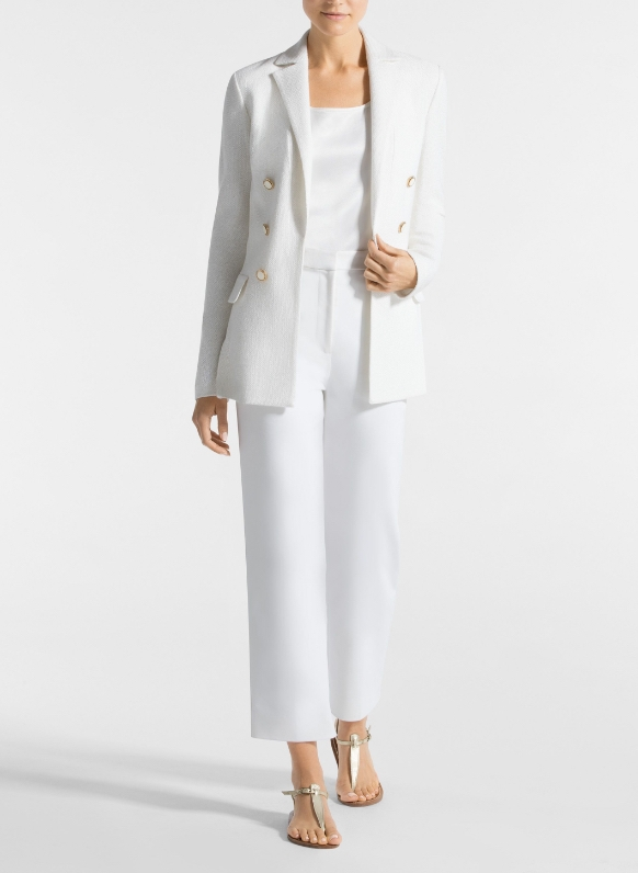White gail knit blazer