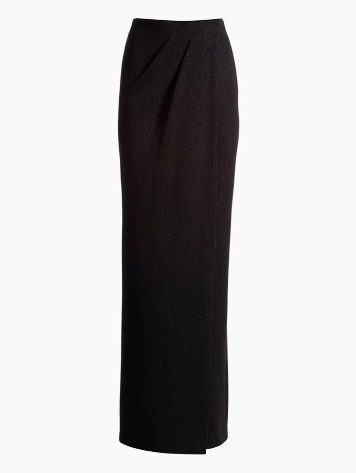 Saint John Mod Metallic Knit Gown Skirt