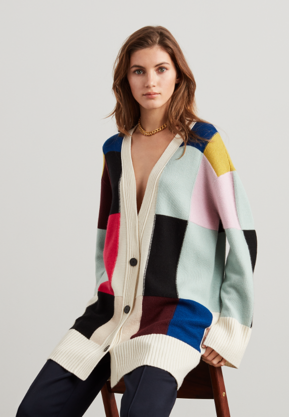 Saint John Fall 2019 color block sweater