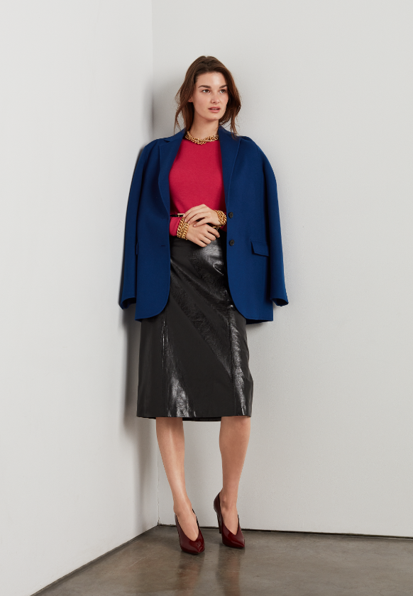 Saint John Fall 2019 leather skirt