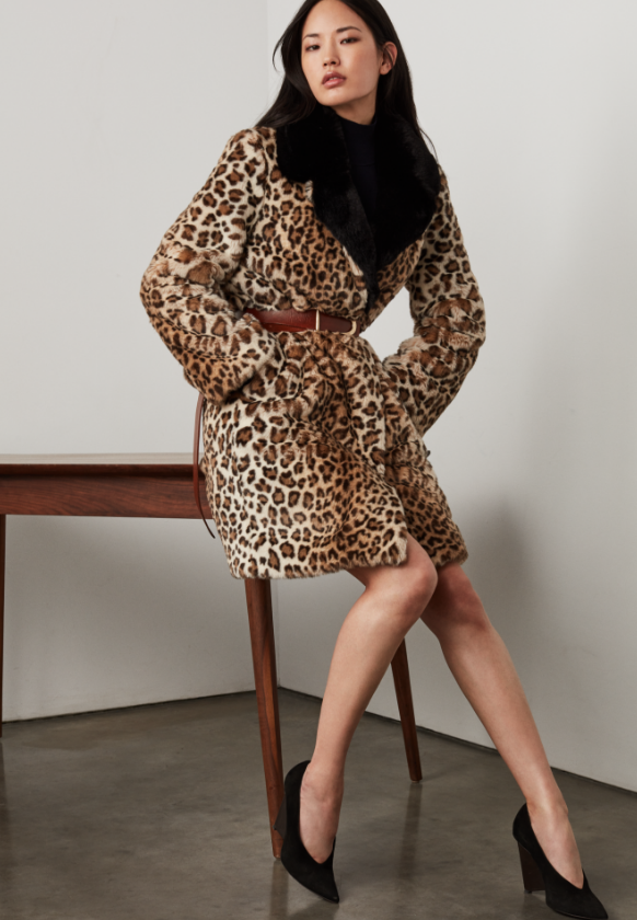 Saint John Fall 2019 leopard coat
