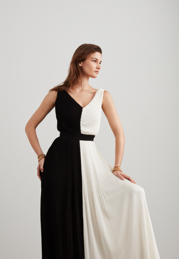 Saint John Fall 2019 black and white dress