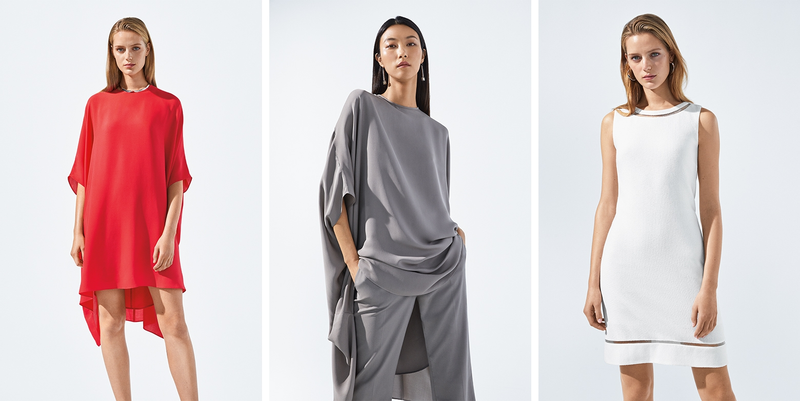 Three different Spring 2019 looks from Saint John selected by WWD
